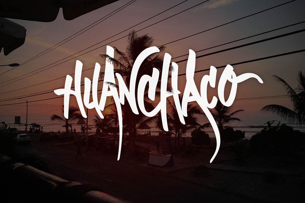 Handlettering Huanchaco - Peru