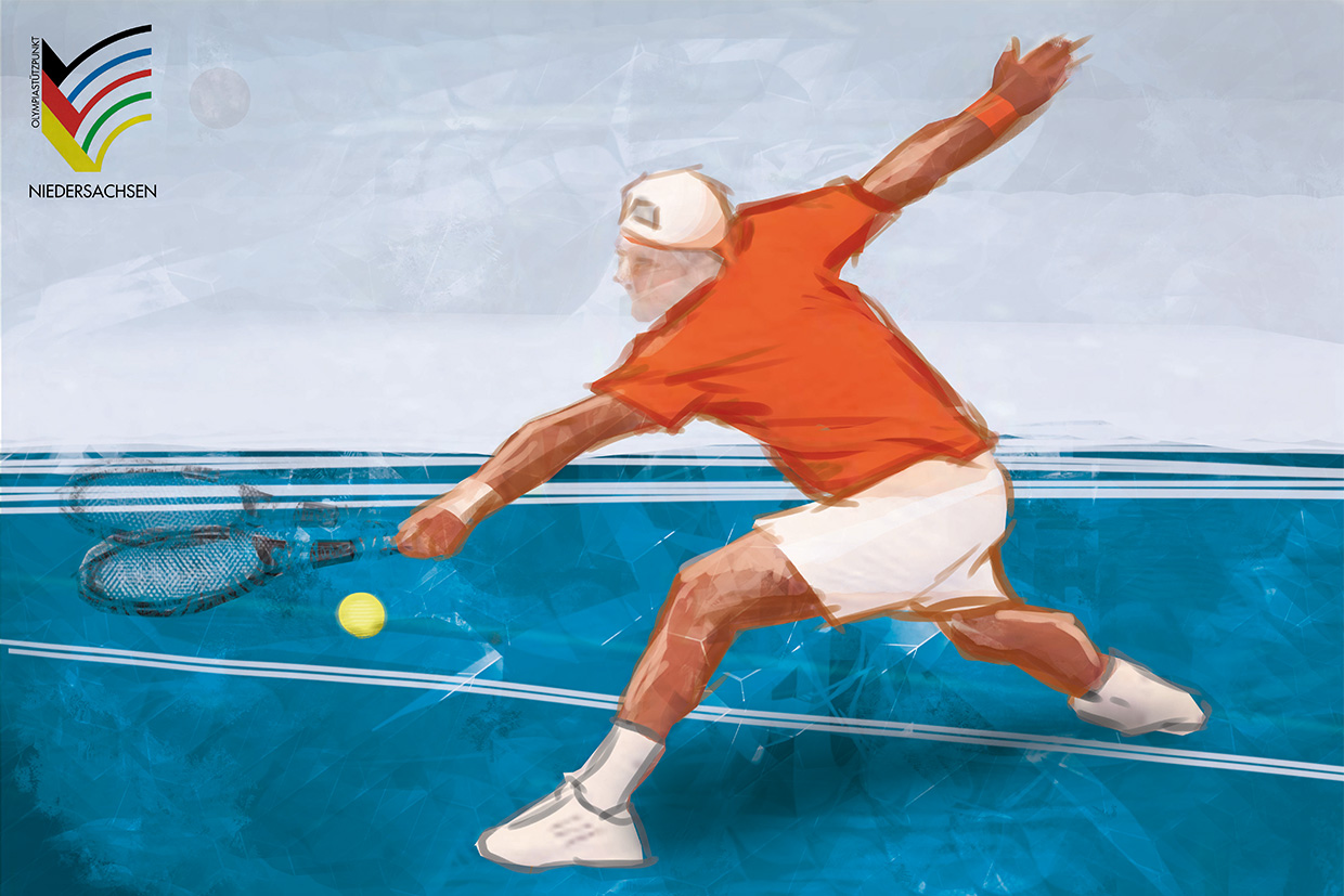 Sportillustration Tennis